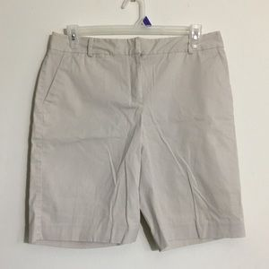 Talbots Cream Colored Medium Length Shorts